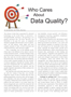 Who Cares About Data Quality? An RMA Journal Article