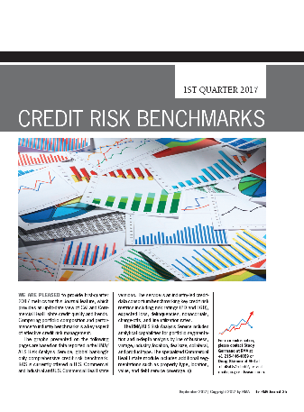RMA Credit Risk Benchmarks 1st Quarter 2017