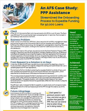 AFS Case Study: PPP Assistance