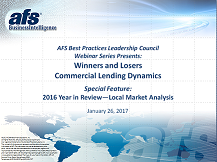 2016 Year in Review: Winners and Losers: Commercial Lending Dynamics