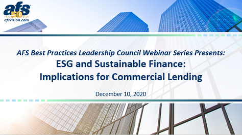 ESG and Sustainable Finance: Implications for Commercial Lending