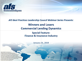 Winners and Losers: Commercial Lending Dynamics Year End 2018