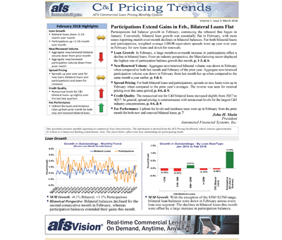 C&I Pricing Trends Newsletter March 2018