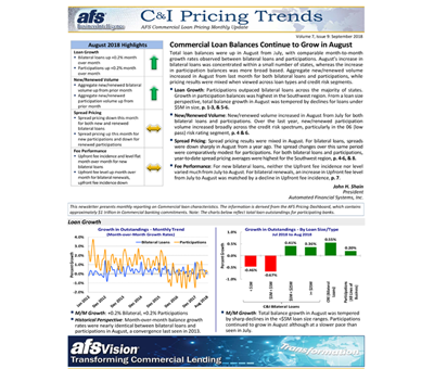 C&I Pricing Trends Newsletter September 2018