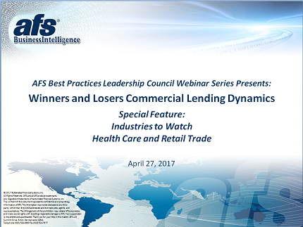 Winners and Losers: Commercial Lending Dynamics 1Q2017