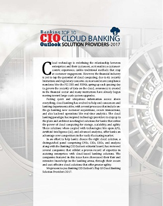 Banking CIO-Banking Top 10 Cloud Banking Solution Providers 2017