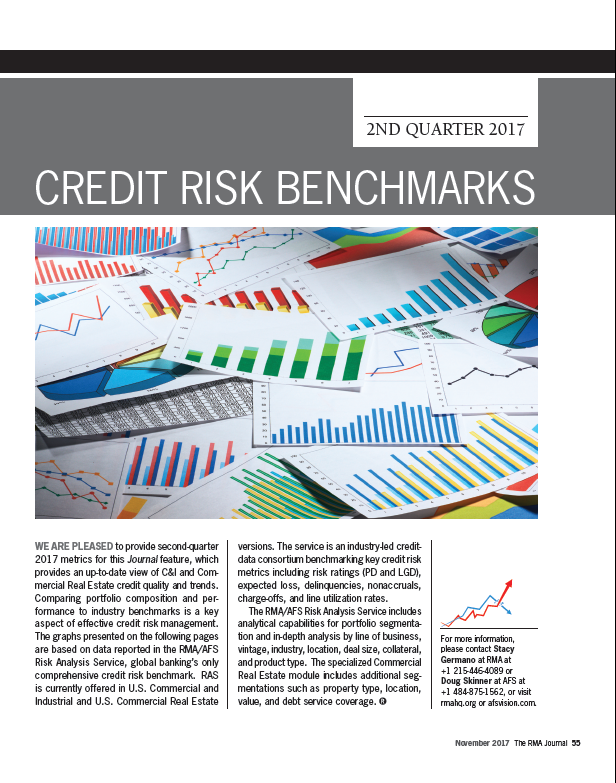 RMA Credit Risk Benchmarks 2Q 2017